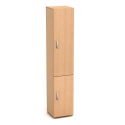 Колонка высокая Канц, узкая, закрытая, 2 двери, 350*330*1830, бук невский