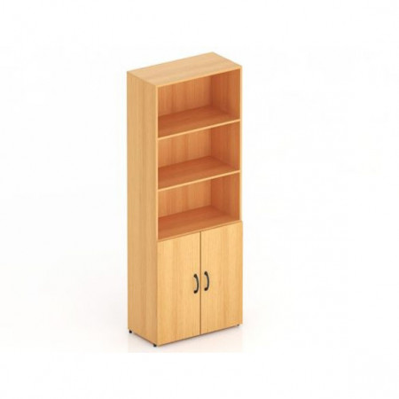 Шкаф высокий Канц, 3 открытые полки, 2 двери, 700*350*1830, бук невский