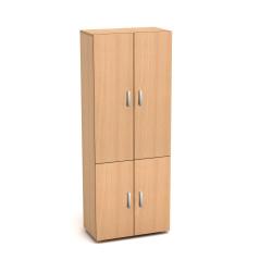 Шкаф высокий Канц, закрытый, 4 двери, 700*350*1830, бук невский