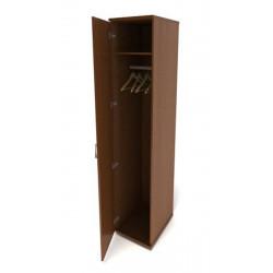 Шкаф для одежды Канц ШК42.9, узкий глубокй, 350*520*1830, орех пирамидальный