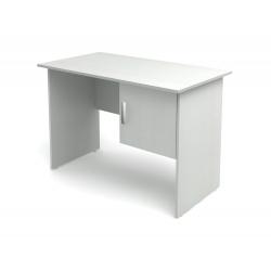 Стол письменный Канц СК50.20, 1- тумбовый с дверкой 1200*600*750, пепел