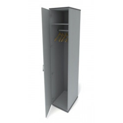 Шкаф для одежды Канц ШК42.20, узкий глубокий, 350*520*1830, пепел