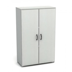 Шкаф средний Канц, закрытый, 2 двери, 700*350*1130 пепел