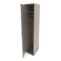 Шкаф для одежды Канц ШК42.15, узкий глубокий, 350*520*1830, дуб молочный