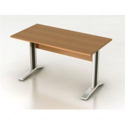 Стол письменный Монолит КМ60.3, на металлокаркасе, 1404*704*756, орех гварнери, СМ9.3+ОМ02