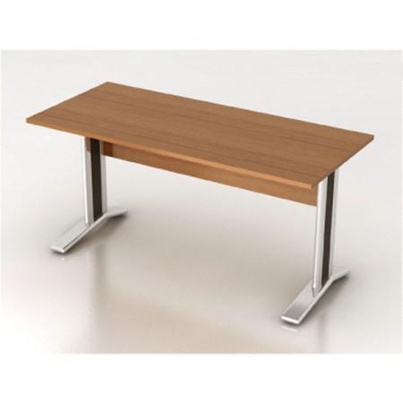 Стол письменный Монолит КМ61.3, на металлокаркасе, 1604*704*756, орех гварнери, СМ10.3+ОМ02