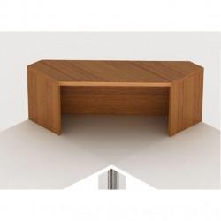 Надстройка на стол Монолит НМ42.3, угловая, 996*264*346, орех гварнери