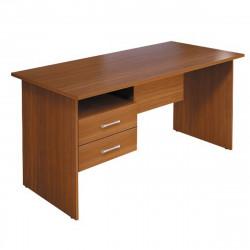 Стол письменный Монолит, с подвесной тумбой, 1404*704*756, орех гварнери