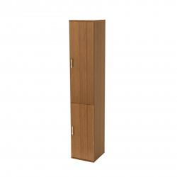 Шкаф высокий Монолит, узкий, закрытый, 2 двери, 374*390*2046, орех гварнери