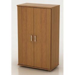 Шкаф средний Монолит, закрытый, 2 двери, 744*390*1252, орех гварнери