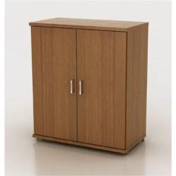Шкаф низкий Монолит, закрытый, 2 двери, 744*390*870, орех гварнери