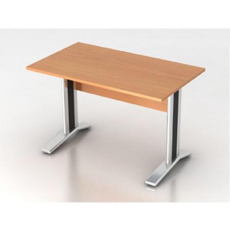 Стол письменный Монолит КМ59.1, на металлокаркасе, 1204*704*756, бук бавария, СМ8.1+ОМ02