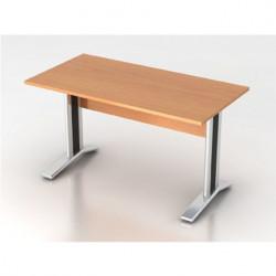 Стол письменный Монолит КМ60.1, на металлокаркасе, 1404*704*756, бук бавария, СМ9.1+ОМ02