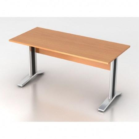 Стол письменный Монолит КМ61.1, на металлокаркасе, 1604*704*756, бук бавария, СМ10.1+ОМ02