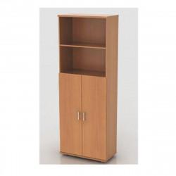 Шкаф высокий Монолит, 2 открытые полки, 2 двери, 744*390*2046, бук бавария