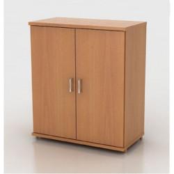 Шкаф низкий Монолит, закрытый, 2 двери, 744*390*870, бук бавария