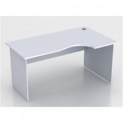 Стол эргономичный Монолит СМ6.11, правый, 1604*904(704)*756, серый