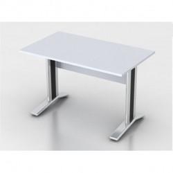 Стол письменный Монолит КМ59.11, на металлокаркасе, 1204*704*756, серый, СМ8.11+ОМ02