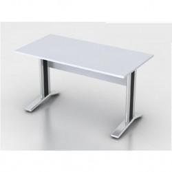Стол письменный Монолит КМ60.11, на металлокаркасе, 1404*704*756, серый, СМ9.11+ОМ02