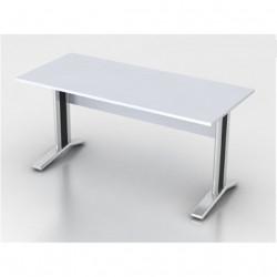 Стол письменный Монолит КМ61.11, на металлокаркасе, 1604*704*756, серый, СМ10.11+ОМ02
