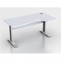 Стол эргономичный Монолит КМ64.11, правый, на металлокаркасе, 1604*904(704)*756, серый, СМ13.11+ОМ02