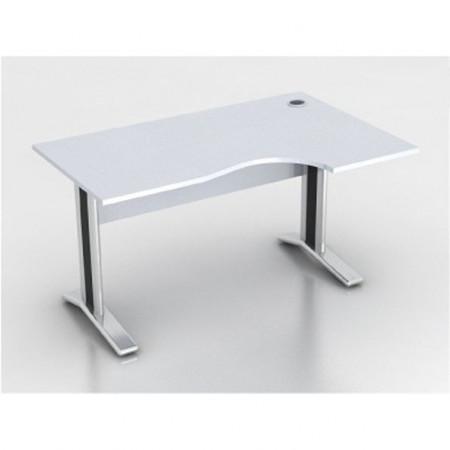 Стол эргономичный Монолит КМ62.11, правый, на металлокаркасе, 1404*904(704)*756, серый, СМ11.11+ОМ02