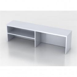 Надстройка на стол Монолит НМ37.11, 1204*264*346, серый
