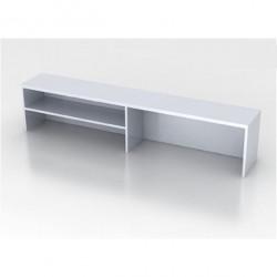 Надстройка на стол Монолит НМ39.11, 1604*264*346, серый