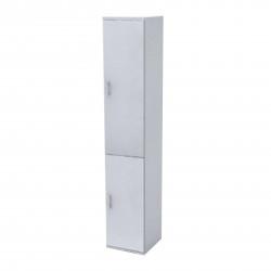 Шкаф высокий Монолит, узкий, закрытый, 2 двери, 374*390*2046, серый