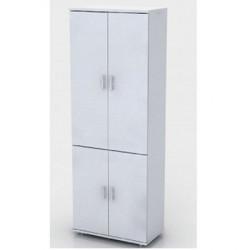Шкаф высокий Монолит, закрытый, 4 двери, 744*390*2046, серый