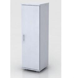 Шкаф средний Монолит, узкий, закрытый, 1 дверь, 374*390*1252, серый