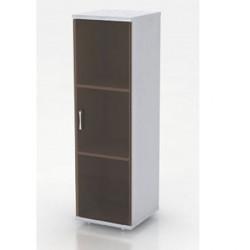 Шкаф средний Монолит, закрытый, со стеклом тонированным, 1 дверь, 374*390*1252, серый