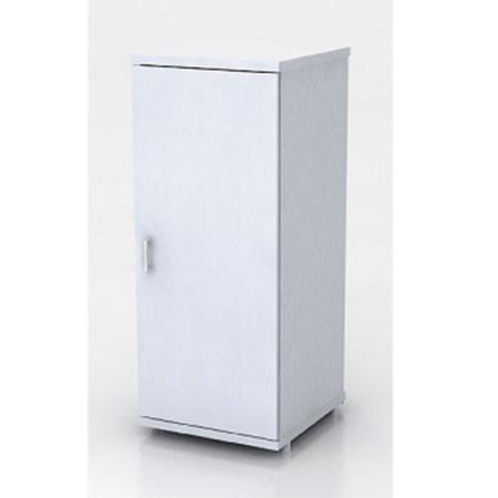 Шкаф низкий Монолит, узкий, закрытый, 1 дверь, 374*390*870, серый