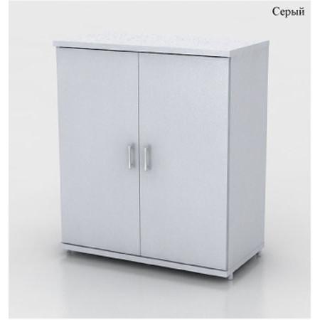 Шкаф низкий Монолит, закрытый, 2 двери, 744*390*870, серый