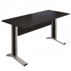Стол письменный Монолит КМ60.14, на металлокаркасе, 1404*704*756, венге, СМ9.14+ОМ02