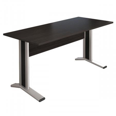Стол письменный Монолит КМ61.14, на металлокаркасе, 1604*704*756, венге, СМ10.14+ОМ02