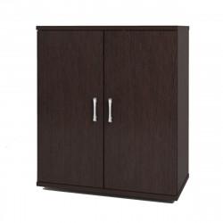 Шкаф низкий Монолит, закрытый, 2 двери, 744*390*870, венге