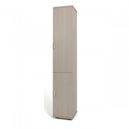 Шкаф высокий Монолит, узкий, закрытый, 2 двери, 374*390*2046, дуб молочный