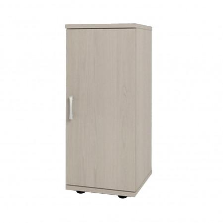Шкаф низкий Монолит, узкий, закрытый, 1 дверь, 374*390*870, дуб молочный