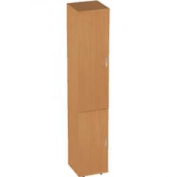 Шкаф высокий Авантаж, узкий, закрытый, 2 двери, 428*378*1924, миланский орех
