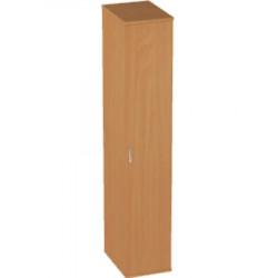 Шкаф высокий Авантаж, узкий, закрытый, 1 дверь, 428*378*1924, миланский орех