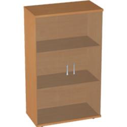 Шкаф низкий Авантаж, со стеклом, 2 двери, 714*378*1202, миланский орех