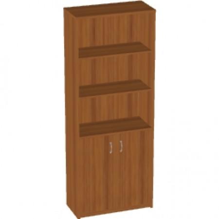 Шкаф высокий Арго А-310, 3 открытые полки, 2 двери, 77*37*200, орех
