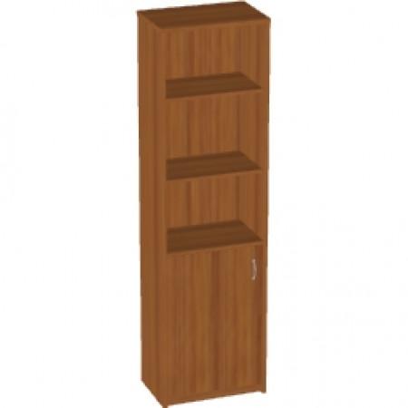 Шкаф высокий Арго А-321, узкий, 3 открытые полки, 1 дверь, 55*37*200, орех