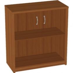 Шкаф низкий Арго, закрытый, со стеклом тонированным, 2 двери, 77*37*85, орех