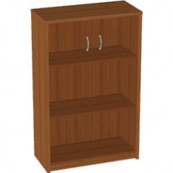 Шкаф средний Арго, закрытый, со стеклом тонированным, 2 двери, 77*37*122, орех
