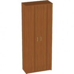 Шкаф высокий Арго, закрытый, 2 двери, 77*37*200, орех