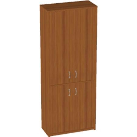 Шкаф высокий Арго, закрытый, 4 двери, 77*37*200, орех