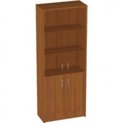 Шкаф высокий Арго, закрытый, со стеклом тонированным, 4 двери, 77*37*200, орех