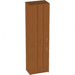 Шкаф высокий Арго, узкий, закрытый 2 двери, 55*37*200, орех